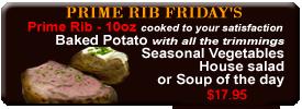 Best Prime Rib in Vancouver WA - prime rib Fridays image